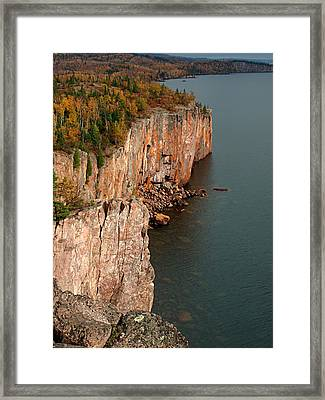 Fall Colors Adorn Palisade Head Framed Print