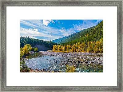 Fall Colors At Glacier National Park Framed Print by Rohit Nair