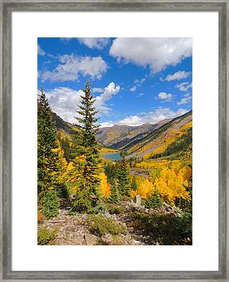 Fall Colors At Maroon Lake 2 Framed Print by Steve Anderson