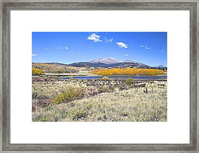 Framed Print featuring the photograph Fall Colors Fairplay Colorado by James Steele