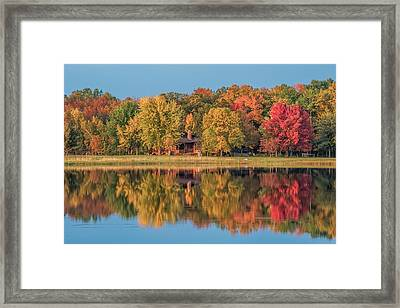 Fall Colors In Cabin Country Framed Print
