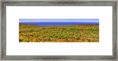 Fall Colors In The Porcupine Mountains Framed Print by Twenty Two North Photography