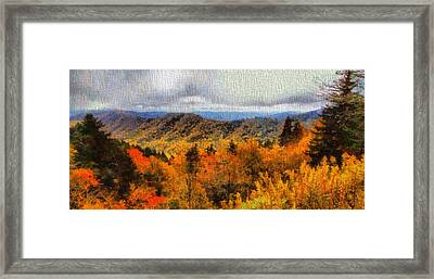 Fall Colors In The Smoky Mountains Framed Print by Dan Sproul