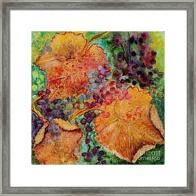 Framed Print featuring the painting Fall Colors by Karen Fleschler