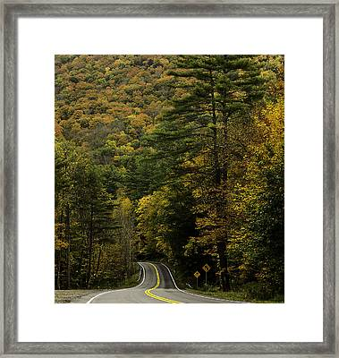 Fall Colors On Mohawk Trail Near Charlemont Framed Print