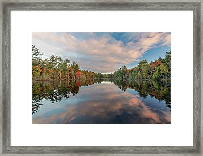 Fall Colors On Shoreline Of Irwin Lake Framed Print