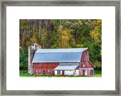 Fall Colors On The Farm Framed Print by Paul Freidlund