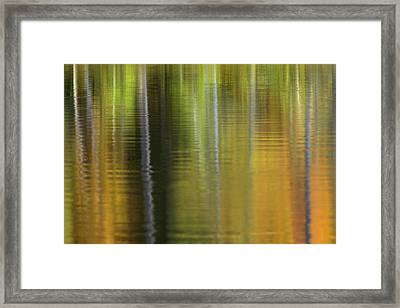 Fall Colors Reflecting On Irwin Lake Framed Print
