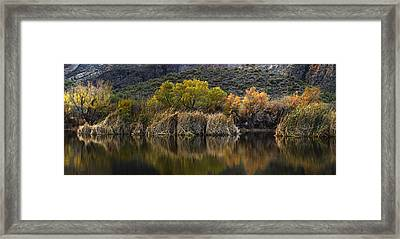 Fall Colors Reflections Framed Print