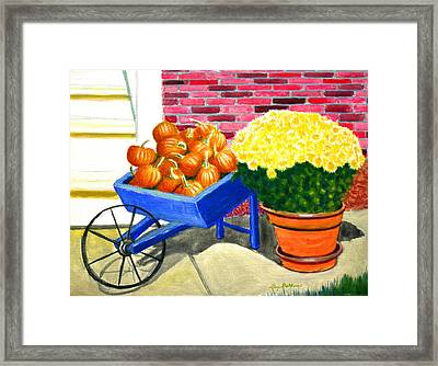 Fall Colors Framed Print by Stacy C Bottoms