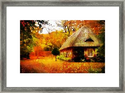 Framed Print featuring the painting Fall Colors by Wayne Pascall