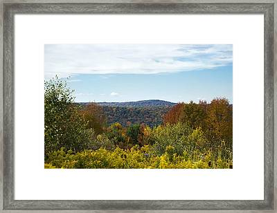 Fall Country Hill Framed Print