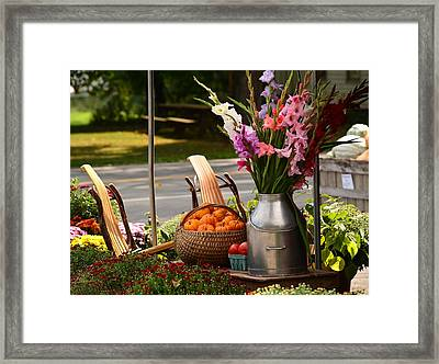 Fall Country   Framed Print by Judy Genovese