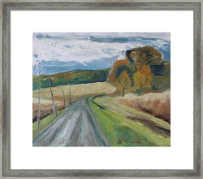 Fall Country Road  Framed Print by Francois Fournier