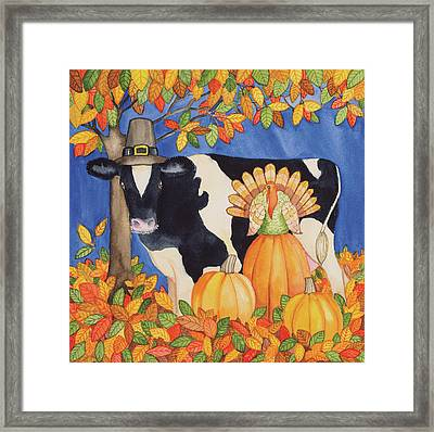 Fall Cow Framed Print