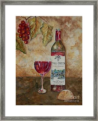 Fall Creek Vineyards Framed Print