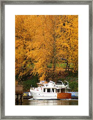 Framed Print featuring the photograph Fall Cruise by Erin Kohlenberg