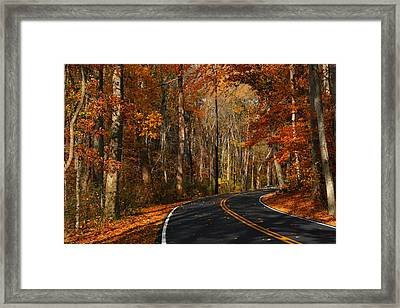 Framed Print featuring the photograph Fall Curves by Andy Lawless