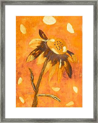 Fall Daisy Framed Print