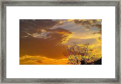 Framed Print featuring the photograph Fall Day by Chris Tarpening