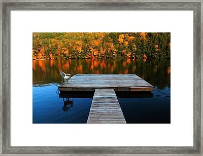 Fall Dock In Vt Framed Print
