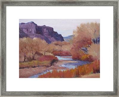 Fall-dolores River Framed Print