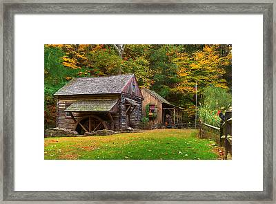 Fall Down On The Farm Framed Print by William Jobes