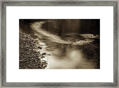 Fall Drift Framed Print by Geoffrey Baker
