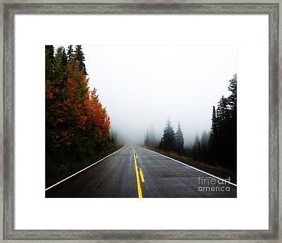 Fall Drive 8x10 Crop Framed Print