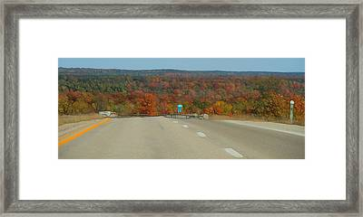 Fall Drive In Michigan Framed Print by Dan Sproul