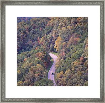Fall Drive In The Smokies Framed Print by Dan Sproul