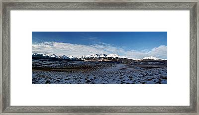 Fall Ends Panorama Framed Print by Jeremy Rhoades