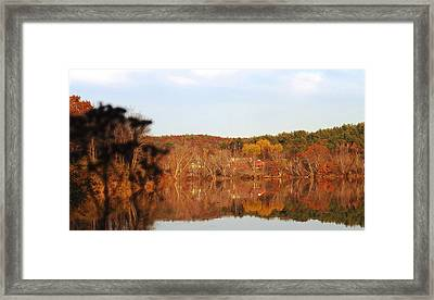 Fall Farm Landscape Framed Print by Mike Breau
