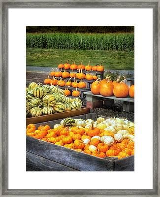 Fall Farm Stand Framed Print by Carolyn Derstine
