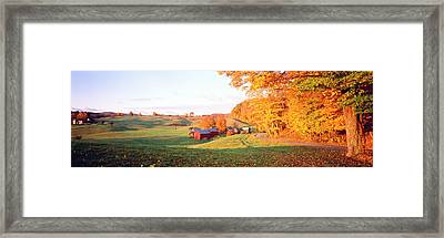 Fall Farm Vt Usa Framed Print by Panoramic Images