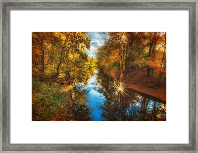 Fall Filtered Reflections Framed Print by Sylvia J Zarco