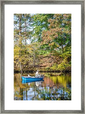Framed Print featuring the photograph Fishing Reflection by Debbie Green
