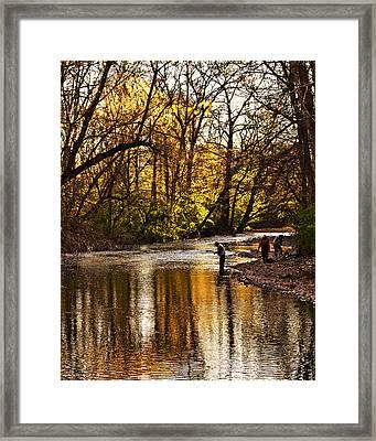 Fall Fishing Framed Print by Tom Gari Gallery-Three-Photography