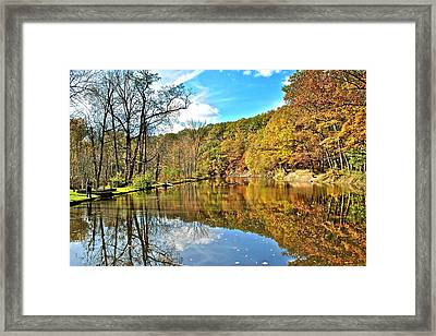 Fall Fishing Framed Print
