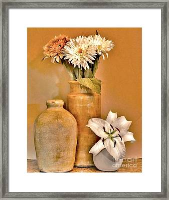 Fall Floral Bouquets Framed Print
