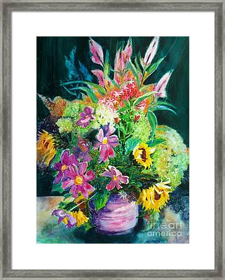 Fall Floral Sweetness Framed Print by Kathy Braud