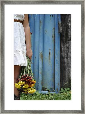 Fall Flowers Framed Print by Chastity Hoff