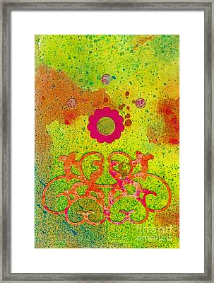 Fall Flowers Framed Print by Desiree Paquette