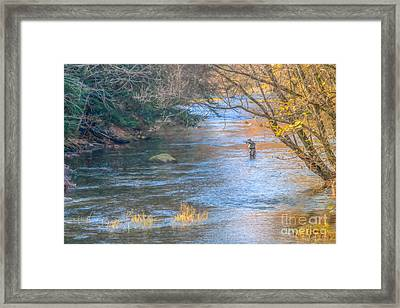 Fall Fly Fisherman Framed Print