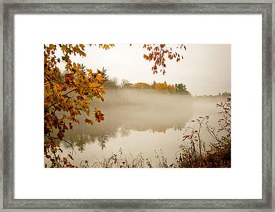 Fall Foggy Day  Framed Print by Allan Millora