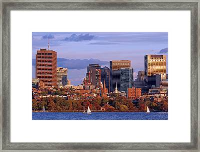 Fall Foliage Colors Across Boston Beacon Hill Framed Print