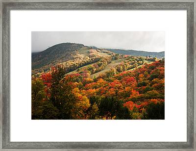 Fall Foliage On Canon Mountain Nh Framed Print