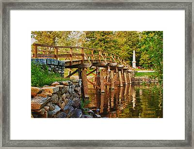 Fall Foliage Over The North Bridge Framed Print
