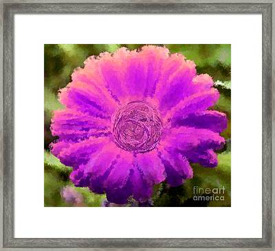Fall For Me Green Pink Framed Print
