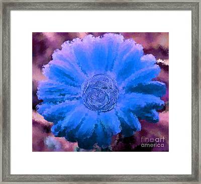 Fall For Me Purple Blue Framed Print by Holley Jacobs